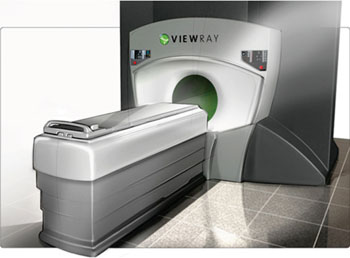 Image: The MRIdian MRI-guided radiation therapy system (Photo courtesy of ViewRay).
