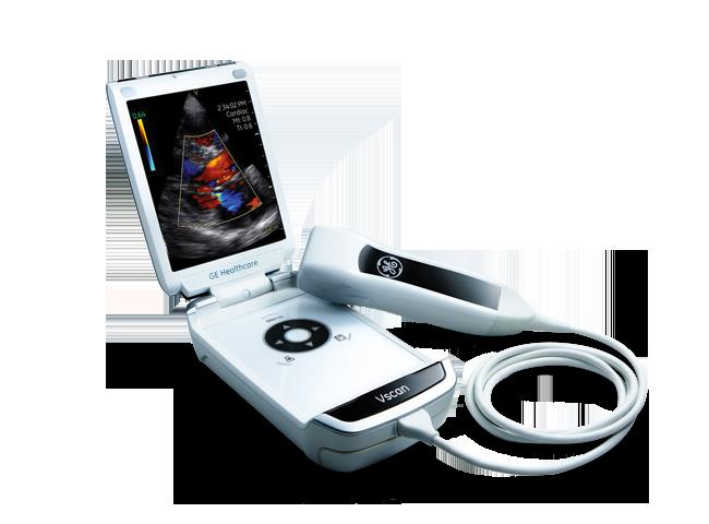 Image: The Vscan handheld ultrasound device by GE Healthcare (Photo courtesy of GE Healthcare).