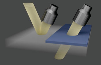Image: Researchers have developed a technique that allows ultrasound to penetrate bone or metal, using customized structures that offset the distortion usually caused by these so-called aberrating layers (Photo courtesy of Yun Jing).