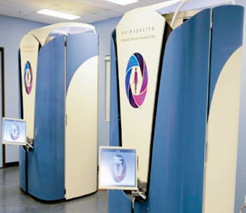 Image: The DermSpectra total body digital skin imaging system (Photo courtesy of DermSpectra).