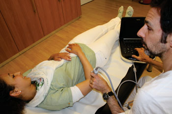 Image: Portable Ultrasound in Use (Photo courtesy of SonoSite).