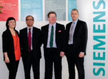 Image: the Siemens Healthcare team (Photo courtesy of Siemens plc).