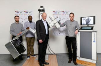 Image: EssentialTech Project Team with GlobalDiagnostiX\'s (Photo courtesy of EPFL).