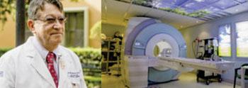Image: Dr. Jorge Fernández de la Torre and the MRI at San José Tec (Photo courtesy of Siemens).