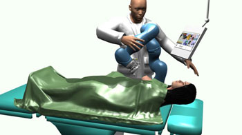 Image: Artist representation of the MURAB biopsy robot (Photo courtesy of the University of Twente).