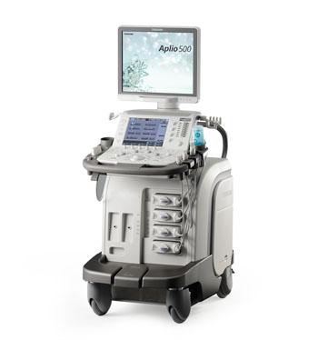 Image: Toshiba's Aplio 500 Platinum ultrasound system (Photo courtesy of Toshiba Medical Systems).