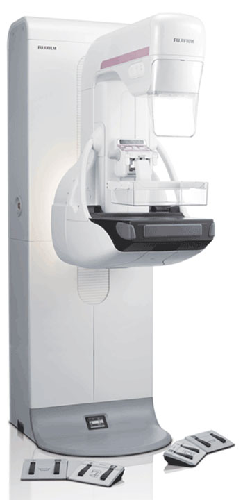 Image: The CAD platform is available on the Aspire Cristalle digital mammography system (Photo courtesy of Fujifilm).