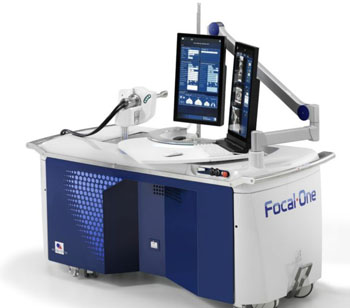 Image: The robot-assisted Focal One HIFU device (Photo courtesy of EDAP TMS).